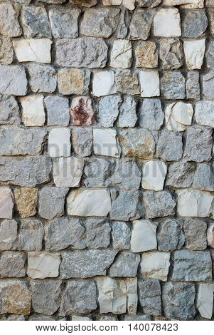 close up of granite stone wall background