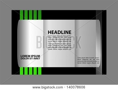 brochure design template frame for images abstract