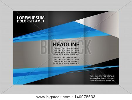 Custom tri-fold brochure template Works great for either the inside or outside of the brochure.