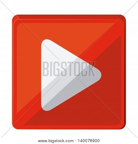 play button isolated icon design, vector illustration  graphic