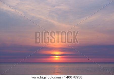 Sunset at Lake Michigan, MI, USA