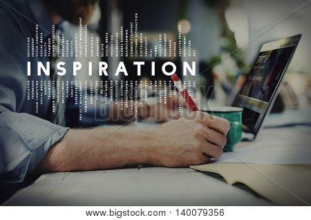 Inspiration Aspiration Imagination Inspire Dream Concept