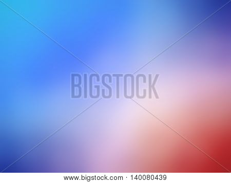 Abstract gradient red blue colored blurred background.