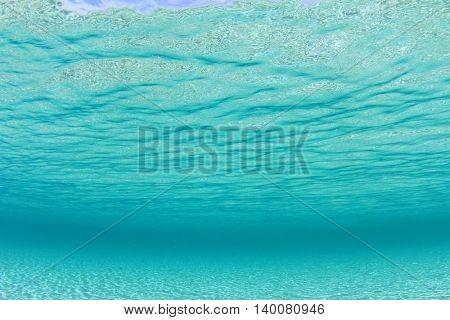 Underwater background photo in sea
