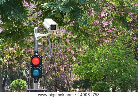 CCTV cameras on the red and green light