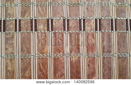 Photo of close-up of brown bamboo background