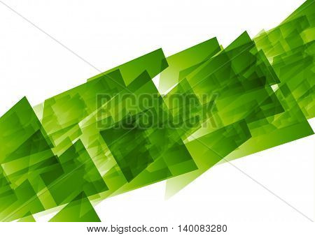 Green concept tech geometric background. Vector design