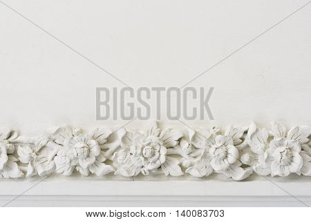 traditional Thai-Chinese style carving of flowers, vintage background