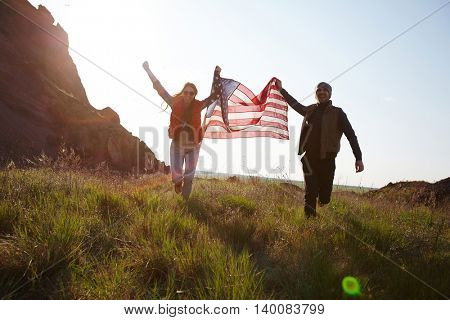 Ecstatic patriots