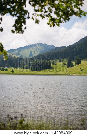 Spitzingsee In The Bavarian Alps