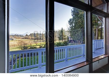 Awesome Mountain View From The Living Room Window.