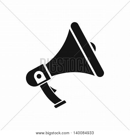 Megaphone icon in simple style isolated on white background
