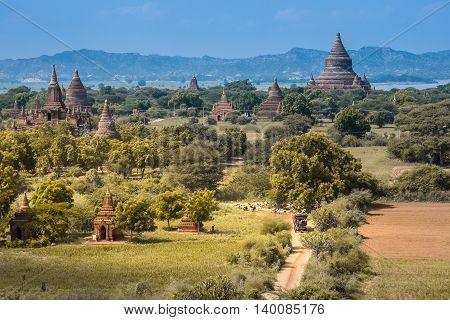 Pagoda In Bagan, Myanmar At Day Light