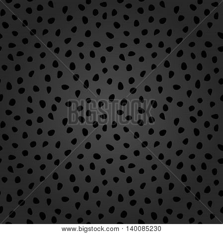 Seamless vector background with random elements. Tileable dark ornament. Dotted abstract background