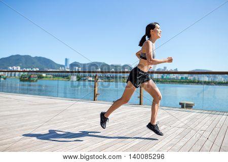 Woman jogging at outdoor