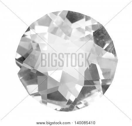 large diamond isolated on white background
