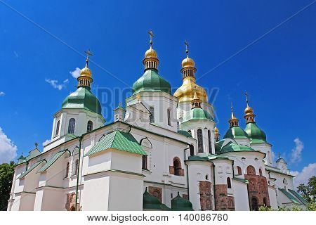 Nice view of Saint Sophia Cathedral in Kyiv, Ukraine