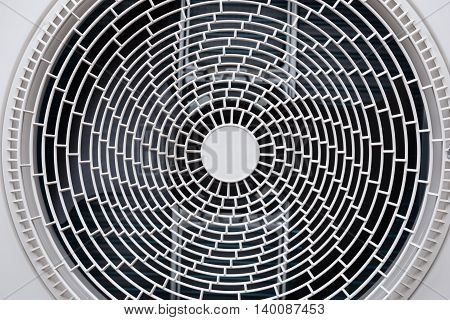 Close-up of the fan of air conditioner