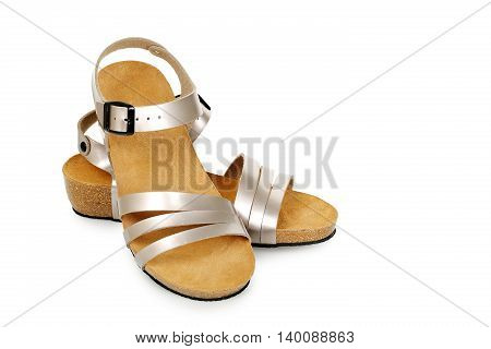 pair of sandals isolated on white background