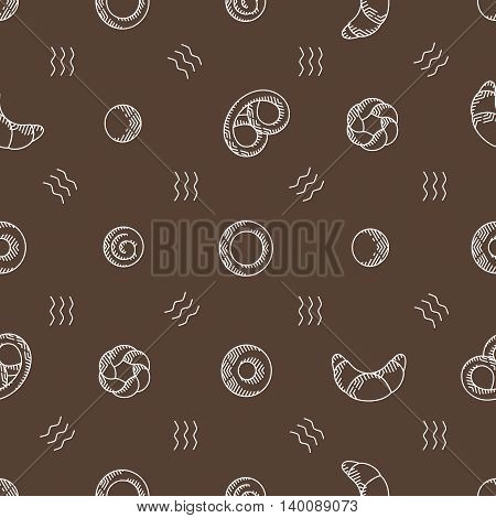 bakery products seamless vector pattern. vector illustration