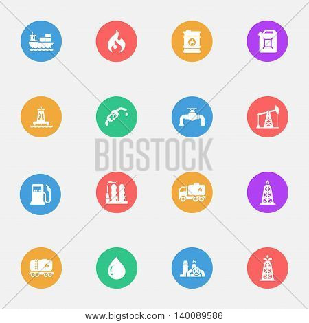 fuel vector icons on the color substrate