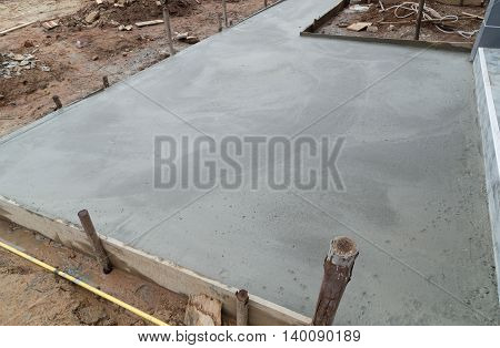 New Concrete Floor After Poured Cement