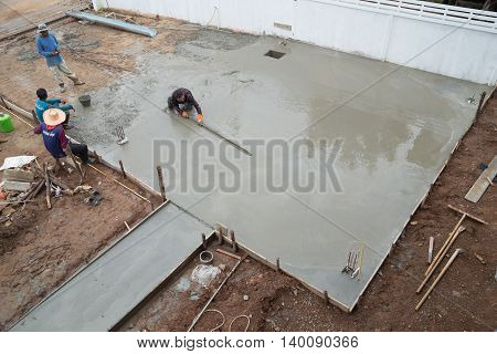 Plasterer Screed Concrete For Floor