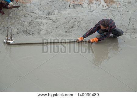 Plasterer Screed Concrete For Floor