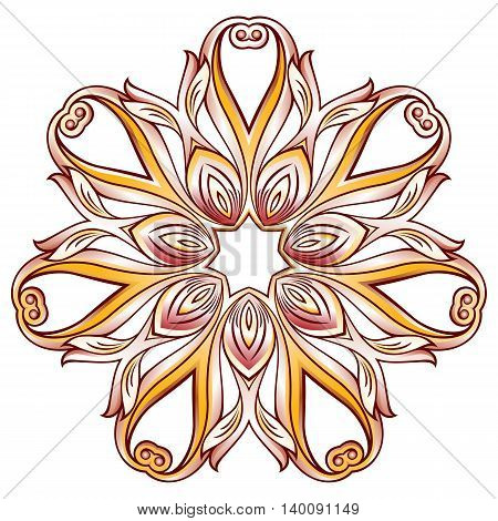 Abstract floral pattern in six rose pink petal