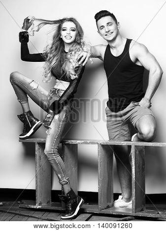 Fashionable Young Couple