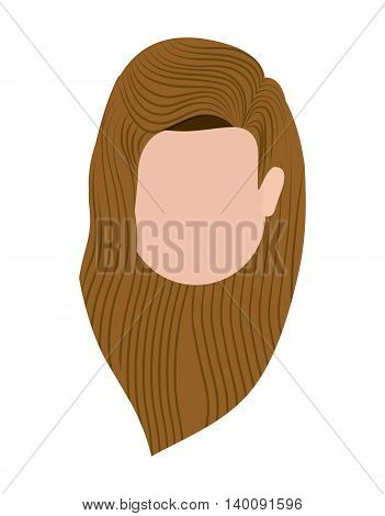 head woman isolated icon design, vector illustration  graphic