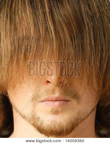Guy with long fringe