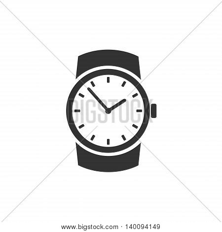 Classic wristwatch icon isolated on white backgroun