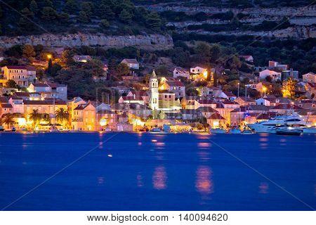 Island of Vis seafront evening view Dalmatia Croatia
