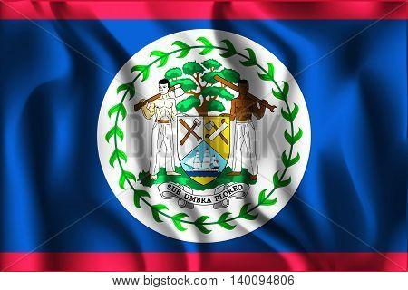 Flag Of Belize. Rectangular Shape Icon