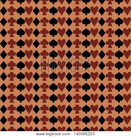 Suits from Wonderland World. Seamless Vector Texture Can Be Used for Wallpapers Pattern Fills Web Page Backgrounds Surface Textures.