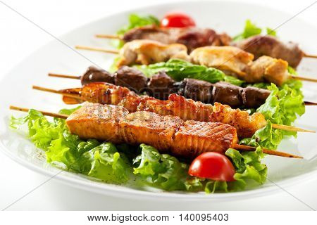 Asian Style Skewered Food