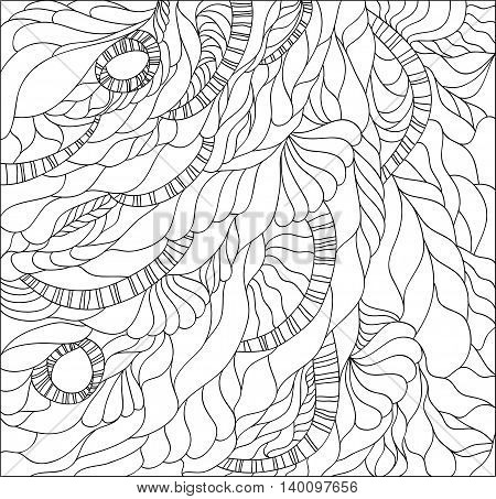 Vector illustration with abstract doodle background. Illustration 10 version