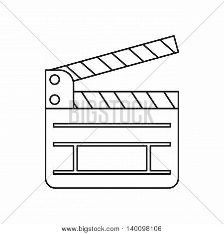 Clapboard icon in outline style on a white background