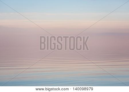 The calm evening sea at summer time