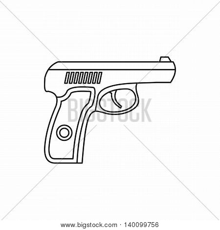 Gun icon in outline style on a white background
