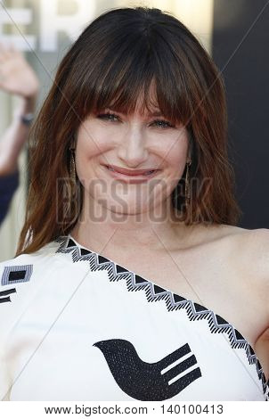 Kathryn Hahn at the Los Angeles premiere of 'Bad Moms' held at the Mann Village Theater in Westwood, USA on July 26, 2016.