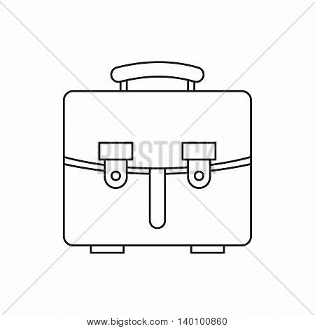 Briefcase icon in outline style on a white background