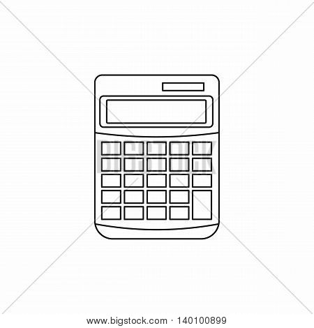 Calculator icon in outline style on a white background