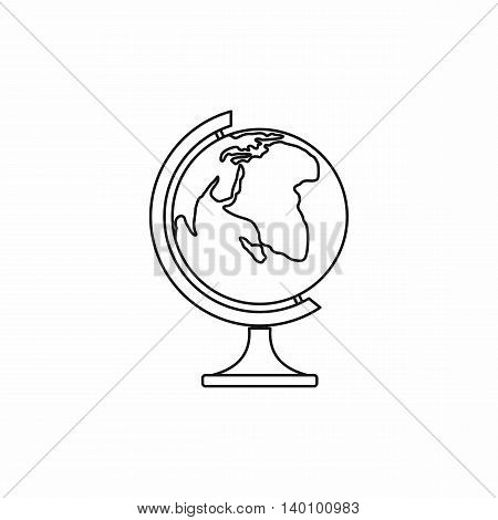 Globe icon in outline style on a white background