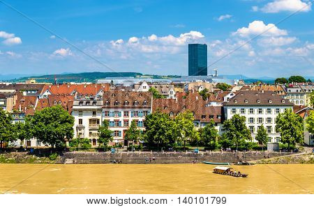 View of Basel city with the Rhine, Switzerland