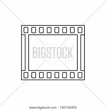 Film strip icon in outline style on a white background
