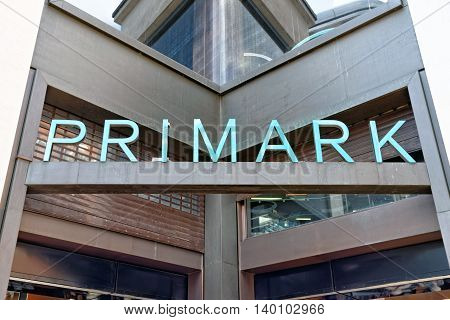 LONDON - JULY 1 2014. Primark store in London on July 1 2014. Primark is an Irish clothing retailer operating in Austria Belgium Germany Ireland Portugal Spain the Netherlands and the UK.