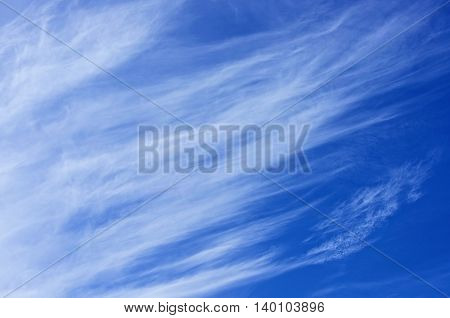 Blue sky background. Blue sky covered with clouds, sky background