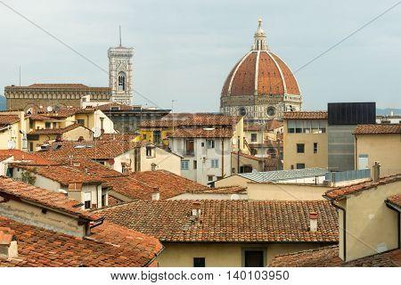 The Cattedrale Di Santa Maria Del Fiore In Florence; Italy 2016